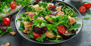 GFC Salad - Juicy GFC Chicken added to fresh salad for a more healthy choice.